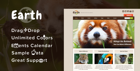 earth - Earth - Eco/Environmental NonProfit WordPress Theme