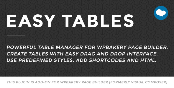 easy - Easy Tables - Table Manager for WPBakery Page Builder