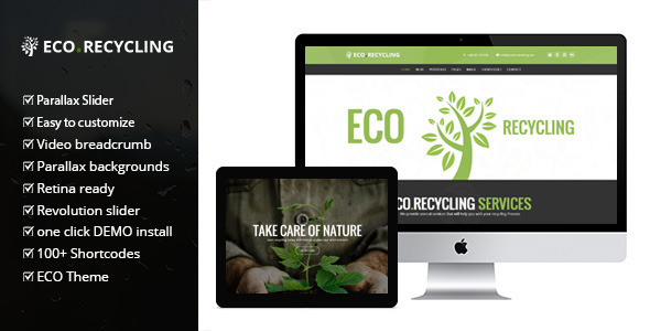 eco - Eco Recycling - Ecology & Nature WordPress Theme