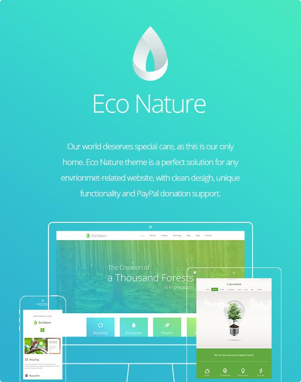 eco2 - Eco Nature - Environment & Ecology WordPress Theme