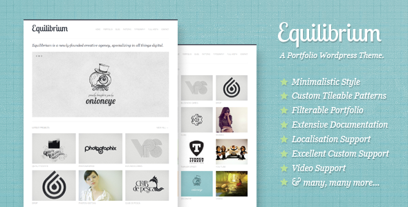 equilibrium - Equilibrium: Clean and Modern WP Portfolio Theme