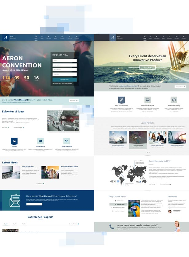 event3 - Event, Meeting, Convention & more - Aeron WordPress Theme