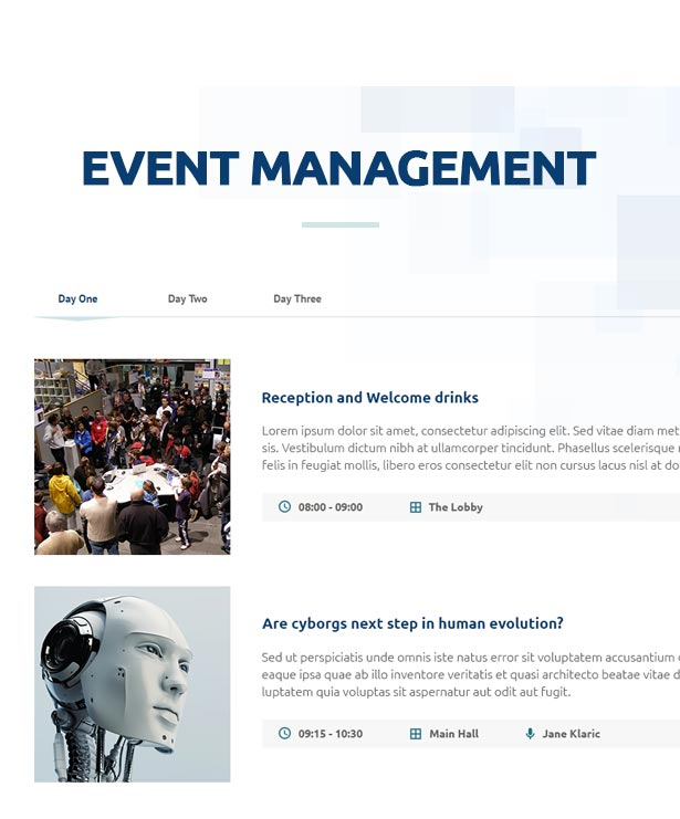 event4 - Event, Meeting, Convention & more - Aeron WordPress Theme