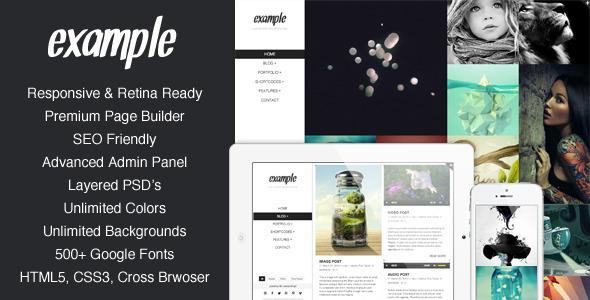 example - Example - Responsive & Retina Portfolio WP Theme