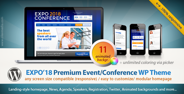 expo18 - Expo18 Responsive Event Conference WordPress Theme