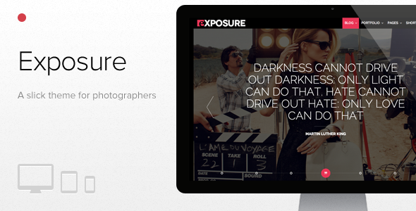 exposure - Exposure, Fullscreen Responsive Photography theme