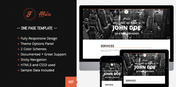 fffolio - Fffolio - Responsive One Page portfolio