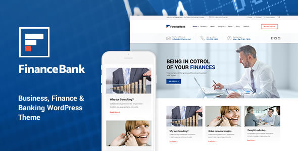 financebank business - FinanceBank - Business, Finance & Banking WordPress Theme