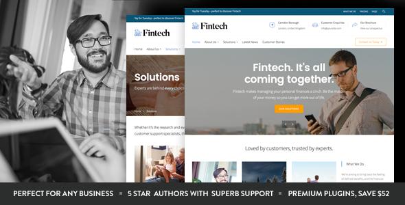 fintech startup - Fintech - Startup WordPress Theme
