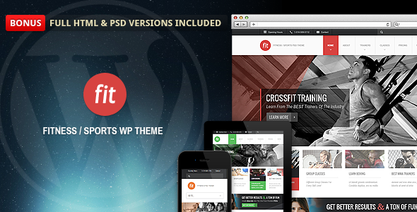 fit - FIT - Fitness/Gym Responsive WordPress Theme