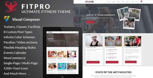 fitpro - FitPro - Events Fitness Gym Sports WordPress Theme