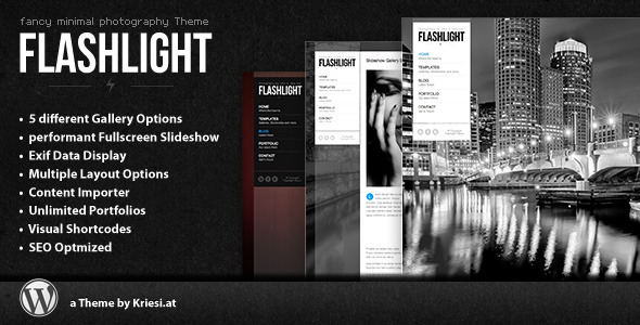 flashlight - Flashlight - fullscreen background portfolio theme