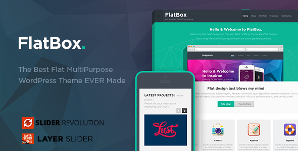 flatbox - FlatBox - Flat Multipurpose WordPress Theme