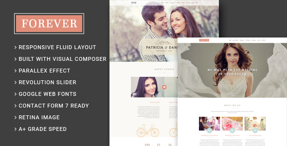 forever - Forever - Wedding Couple & Wedding Planner/ Agency WordPress Theme