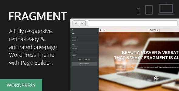 fragment - Fragment - Responsive One Page WordPress Theme