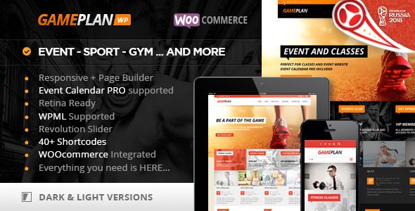 gameplan - Gameplan - Event and Gym Fitness WordPress Theme