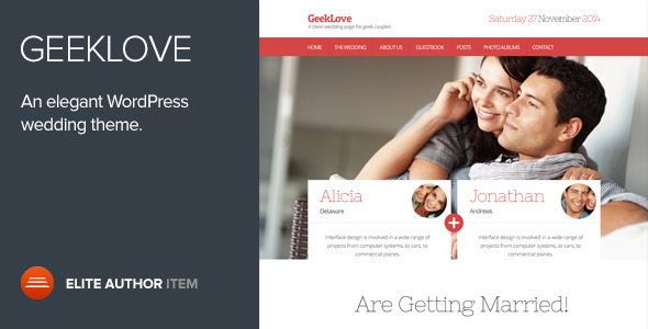 geeklove - GeekLove - A Responsive WordPress Wedding Theme