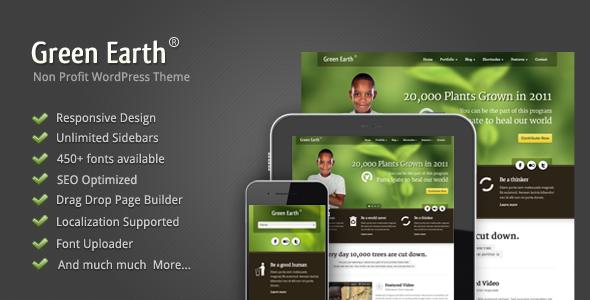 green - Green Earth - Environmental WordPress Theme