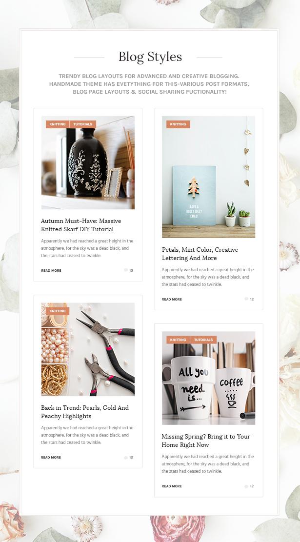 handmade5 - Handmade Shop - Handicraft Blog & Creative Shop WordPress Theme