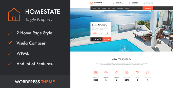 home - HOME STATE - Single Property Real Estate WordPress Theme