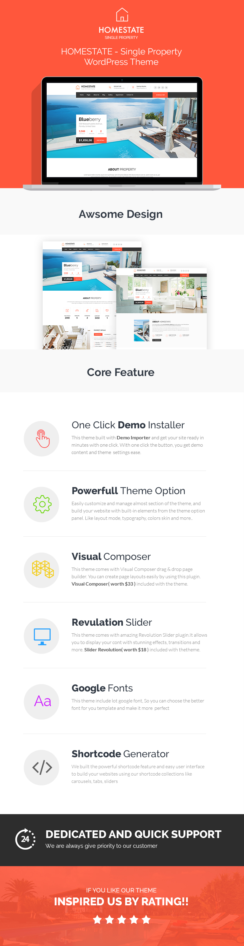 home2 - HOME STATE - Single Property Real Estate WordPress Theme