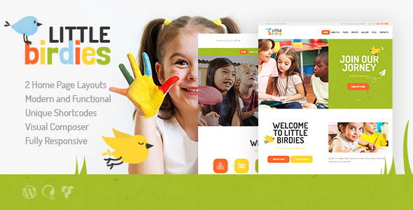ittle birdies  - Little Birdies | Multipurpose Children WordPress Theme