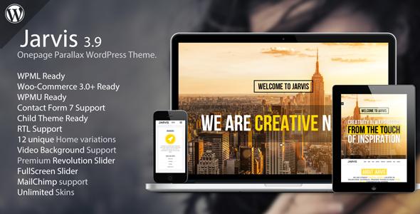jarvis - Jarvis - Onepage Parallax WordPress Theme