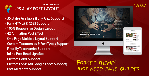 jps - JPS Ajax Post Layout - Addon For Visual Composer