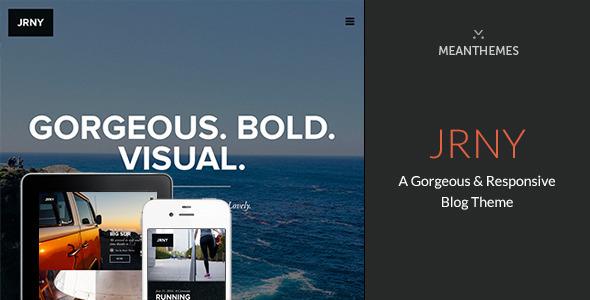 jrny - JRNY: A Gorgeous & Responsive WordPress Blog Theme