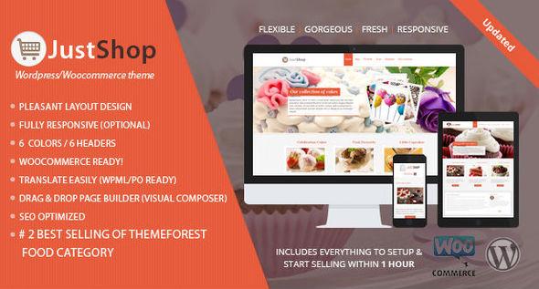 justshop - Cake Bakery WordPress Theme - Justshop