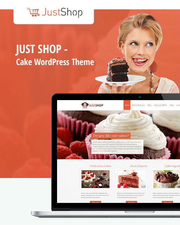 justshop2 - Cake Bakery WordPress Theme - Justshop