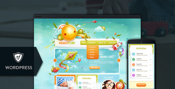 kiddoturf - KiddoTurf - Kids WordPress Theme