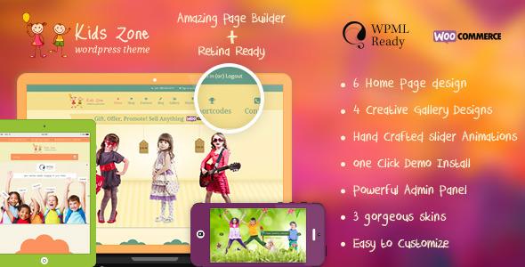 kids - Kids Zone | Children & Kids WordPress Theme