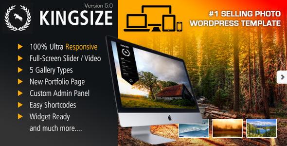 kingsize - KingSize Fullscreen Photography Theme