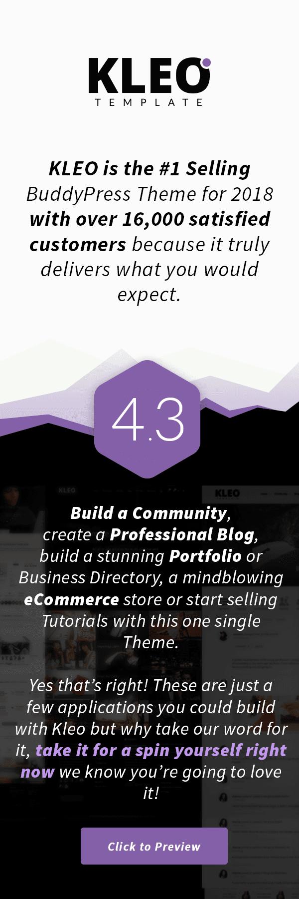 kleo3 - KLEO - Pro Community Focused, Multi-Purpose BuddyPress Theme