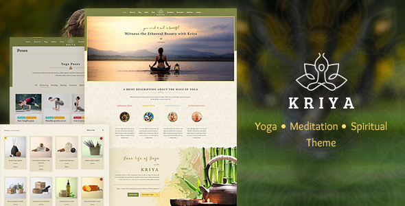 kriya - Kriya Yoga - Health & Yoga WordPress Theme