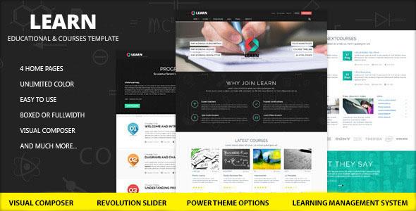 learn education - Learn - Education, eLearning WordPress Theme