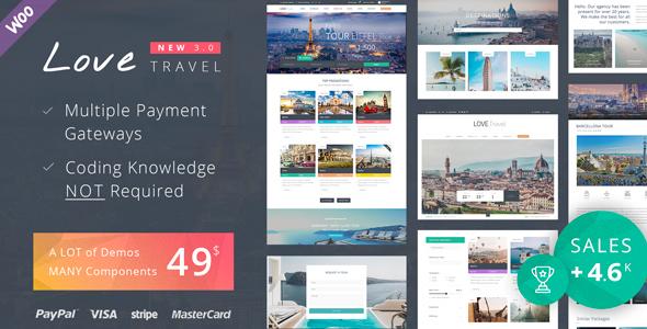 love - Love Travel - Creative Travel Agency WordPress