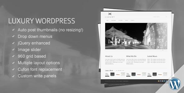 luxury - Luxury WordPress Template