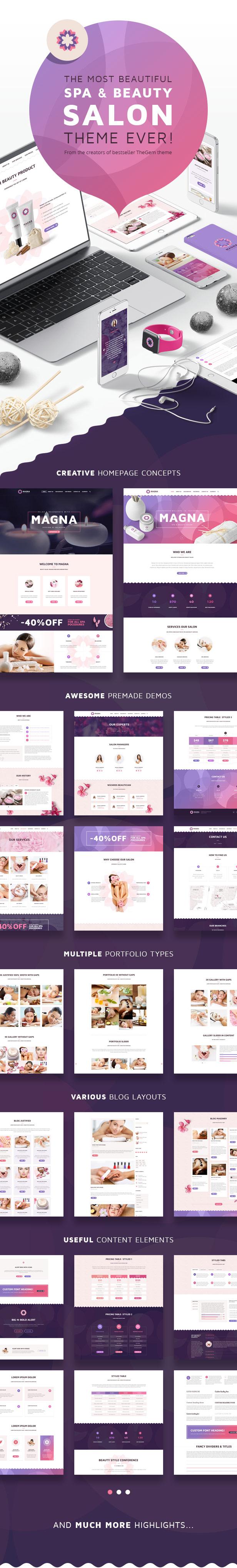 magna2 - Magna - Spa Beauty Salon, Beauty & Spa, Health & Wellness WordPress Theme