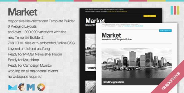 market - Market - Responsive Newsletter with Template Builder
