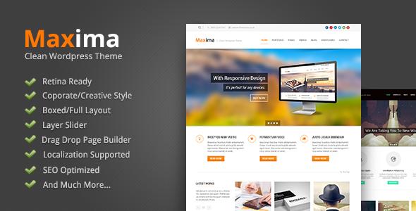 maxima - Maxima - Retina Ready WordPress Theme