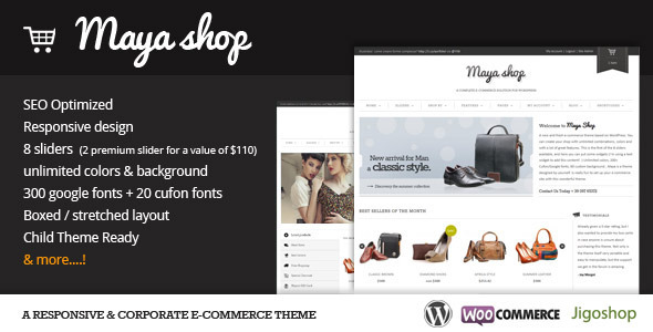 mayasho - MayaShop - A Flexible Responsive e-Commerce Theme