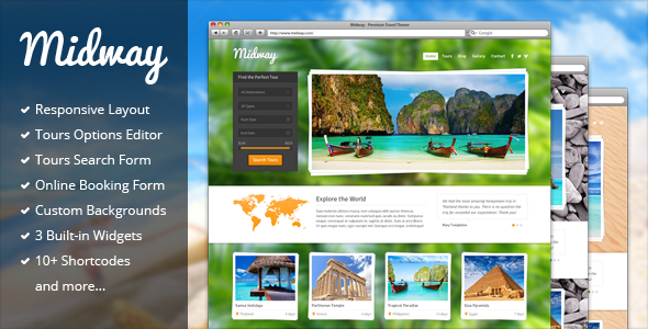 midway - Midway - Responsive Travel WP Theme