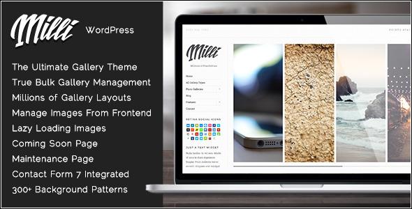 milli - Milli - The Ultimate Photo Gallery WordPress Theme