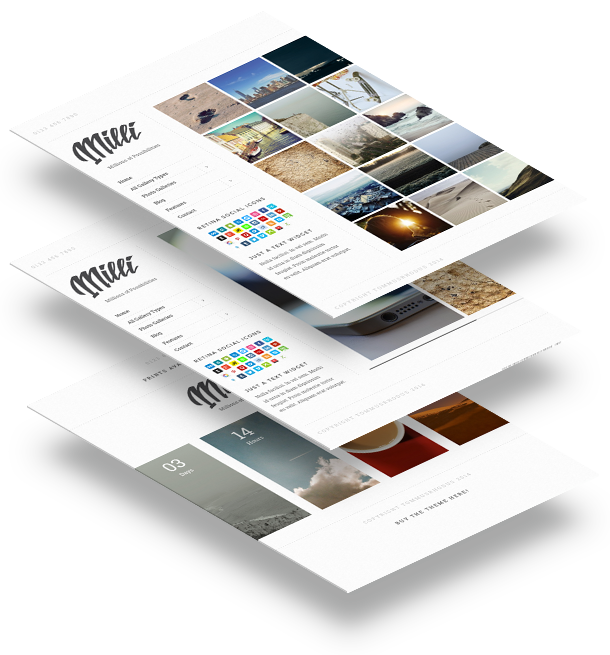 milli3 - Milli - The Ultimate Photo Gallery WordPress Theme