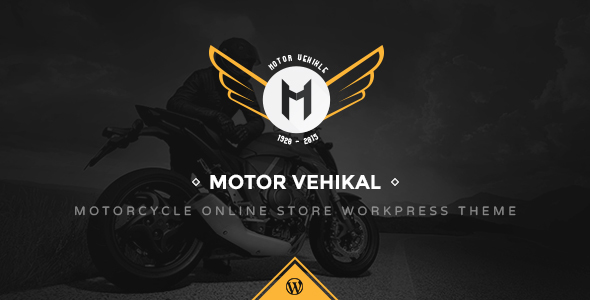 motor vehikal - Motor Vehikal - Motorcycle Online Store WordPress Theme