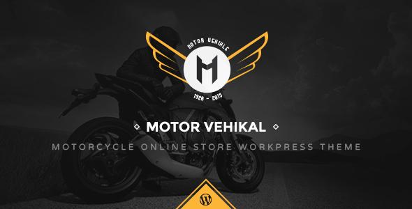 motor vehikal - Motor Vehikal - Motorcycle Online Store WordPress Theme