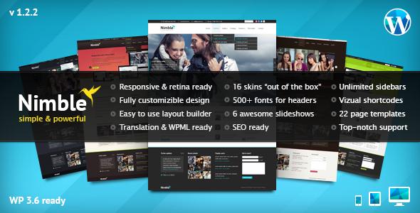nimble - Nimble — Multipurpose Retina Ready WordPress Theme