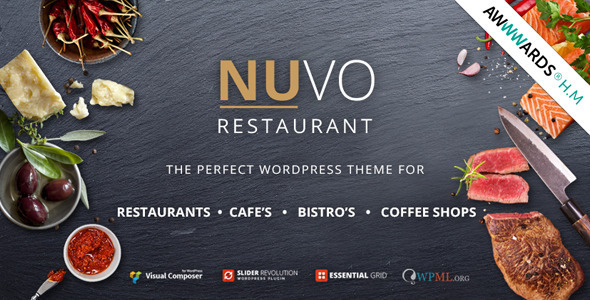 nuvo - NUVO - Cafe & Restaurant WordPress Theme - Multiple Restaurant & Bistro Demos
